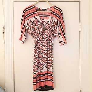 Stretchy Coral Patterned Dress